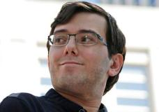 "Martin Shkreli talks with reporters after leaving federal court in New York, Friday, Aug. 4, 2017. Shkreli, the eccentric former pharmaceutical CEO notorious for a price-gouging scandal and for his snide ""Pharma Bro"" persona on social media, was convicted Friday on federal charges he deceived investors in a pair of failed hedge funds.  (AP Photo/Seth Wenig)"