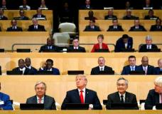 "President Donald Trump participates in a photo before the beginning of the ""Reforming the United Nations: Management, Security, and Development"" meeting during the United Nations General Assembly, Monday, Sept. 18, 2017, at U.N. headquarters. (AP Photo/Evan Vucci)"