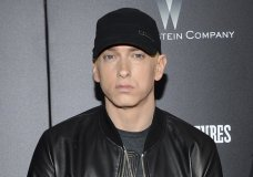 "FILE - In this July 20, 2015, file photo, Eminem attends the premiere of ""Southpaw"" in New York. Eminem has released a verbal tirade on President Donald Trump in a video that aired as part of the BET Hip Hop Awards on Oct. 10, 2017. (Photo by Evan Agostini/Invision/AP, File)"