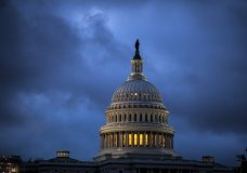 The Capitol is seen at dawn as overnight storm clouds pass, in Washington, Tuesday, Oct. 24, 2017. (AP Photo/J. Scott Applewhite)