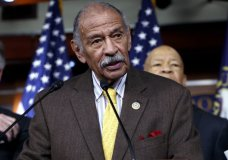 "FILE -- In this file photo from Tuesday, Feb. 14, 2017, Rep. John Conyers, D-Mich., flanked by other top Democrats, speaks at a news conference on Capitol Hill in Washington. House Minority Leader Nancy Pelosi, D-Calif., the top Democrat in the House, said today, Thursday, Nov. 30, 2017, that Conyers should resign, saying the accusations are ""very credible."" (AP Photo/J. Scott Applewhite, file)"