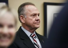 Former Alabama Chief Justice and U.S. Senate candidate Roy Moore waits to speak the Vestavia Hills Public library, Saturday, Nov. 11, 2017, in Birmingham, Ala. According to a Thursday, Nov. 9 Washington Post story an Alabama woman said Moore made inappropriate advances and had sexual contact with her when she was 14. Moore is denying the allegations. (AP Photo/Brynn Anderson)