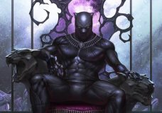 "This image provided by Marvel Comics shows the variant cover of Black Panther #1 written by Ta-Nehisi Coates on sale in May 2018 featuring his new storyline ""The Intergalactic Empire of Wakanda."" The cover was drawn by InHyuk Lee. As people gear up for the ""Black Panther"" movie, acclaimed author Ta-Nehisi Coates wants them to check out the original source, Marvel's Black Panther comic book, where he's booting up a massive outer space adventure for the king of Wakanda. (Marvel via AP)"