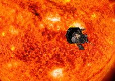 This illustration from NASA shows Parker Solar Probe spacecraft approaching the sun. NASA is accepting online submissions until April 27, 2018, for sending your name on the spacecraft all the way to the sun. (NASA/Johns Hopkins APL/Steve Gribben via AP)