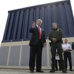 In California, Trump Views Designs For Planned Border Wall