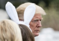 President Donald Trump arrives for the annual White House Easter Egg Roll on the South Lawn of the White House in Washington, Monday, April 2, 2018. (AP Photo/Andrew Harnik)