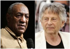 """In this combination photo, Bill Cosby speaks to an audience on the campus of University of the District of Columbia in Washington on May 16, 2006 , left, and director Roman Polanski appears at the photo call for the film, """"Based On A True Story,"""" at the 70th international film festival, Cannes, southern France on May 27, 2017. The Academy of Motion Picture Arts and Sciences Board of Governors has voted to expel Cosby and Polanski from its membership. The film academy said Thursday that its board of governors met Tuesday night and voted on their status in accordance with their Standards of Conduct. (AP Photo)"""