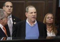 Harvey Weinsteinright, center, speaks during a court proceeding in New York on Friday, May 25, 2018. Weinstein was arraigned Friday on rape and other charges in the first criminal prosecution to result from the wave of allegations against him that sparked a national reckoning over sexual misconduct. (Steven Hirsch/New York Post via AP, Pool)