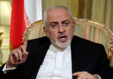 """FILE - In this April 24, 2018, file photo, Iran's Foreign Minister Mohammad Javad Zarif is interviewed by The Associated Press, in New York. Zarif has taken to YouTube on Thursday, May 3, to criticize President Donald Trump's threat to withdraw from the nuclear deal, saying Iran will not """"renegotiate or add onto"""" the atomic accord. (AP Photo/Richard Drew, File)"""