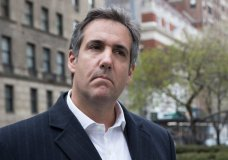 FILE - This Wednesday, April 11, 2018 file photo shows attorney Michael Cohen in New York. The Treasury Department's internal watchdog says it's investigating how detailed allegations about the banking records of President Donald Trump's personal lawyer became public. (AP Photo/Mary Altaffer)