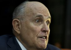 Former New York Mayor Rudy Giulliani talks during an interview to the Associated Press in Jerusalem, Wednesday, June 6, 2018. Giuliani on Wednesday boasted that Donald Trump had forced North Korea's leader to beg to re-schedule a high-profile summit after the president abruptly called off the meeting. (AP Photo/Dusan Vranic)