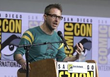 "FILE - In this July 21, 2017 file photo, Chris Hardwick moderates the ""Fear The Walking Dead"" panel at Comic-Con International in San Diego. AMC host Chris Hardwick is returning to work after a review of sexual assault allegations against him by a former girlfriend. AMC says returning Hardwick to work at ""Talking Dead"" and ""Talking with Chris Hardwick"" is the ""appropriate step"" after a review that included interviews with numerous people. (Photo by Al Powers/Invision/AP, File)"