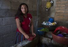 Paulina Gutierrez Alonzo, a 26-year-old Quiche indigenous woman, answers questions during an interview at her grandfather's house in Joyabaj, Guatemala, Thursday, July 26, 2018. Gutierrez Alonzo was deported from United States in June and separated from her 7-year-old daughter Antonia Yolanda Gomez Gutierrez, who is currently at an immigration center in Arizona, despite the Thursday deadline for reuniting children with their families who were caught entering the country without authorization. (AP Photo/Moises Castillo)