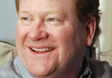 FILE - This Feb. 12, 2004, file photo shows radio talk-show host Ed Schultz in Fargo, N.D. Schulz, whose career took him from quarterbacking at a Minnesota college to national radio and television, died Thursday, July 5, 2018, in Washington, D.C. He was 64. (AP Photo/Dave Samson, File)
