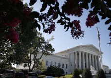 The Supreme Court is seen Monday, July 9, 2018, in Washington. President Donald Trump is expected to announce his choice on a replacement for retiring Supreme Court Justice Anthony Kennedy Monday evening. (AP Photo/Jacquelyn Martin)