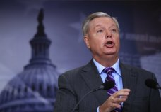 FILE - In this Nov. 1, 2017 file photo, Sen. Lindsey Graham, R-S.C., speaks on Capitol Hill in Washington. Graham's shift from Never Trump to Team Trump has confused colleagues and caused double-takes across Washington. (AP Photo/Manuel Balce Ceneta)