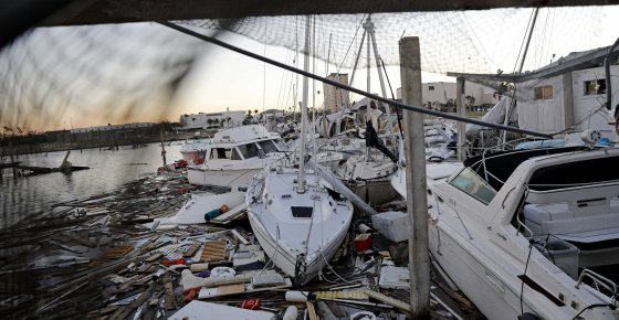 Damaged boats sit among debris in a marina in the aftermath of Hurricane Michael in Panama City, Fla., Friday, Oct. 12, 2018. (AP Photo/David Goldman)