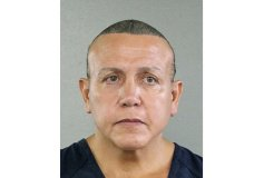In this undated photo released by the Broward County Sheriff's office, Cesar Sayoc is seen in a booking photo in Miami. (Broward County Sheriff's Office via AP)