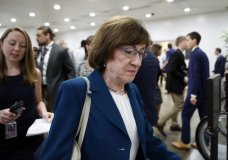 Sen. Susan Collins, R-Maine, walks on Capitol Hill, Wednesday, Oct. 3, 2018 in Washington. (AP Photo/Alex Brandon)