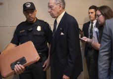 Senate Judiciary Committee Chairman Chuck Grassley, R-Iowa, arrives to review the FBI report on Brett Kavanaugh's nomination to the Supreme Court, at the Capitol in Washington, Thursday, Oct. 4, 2018. (AP Photo/J. Scott Applewhite)
