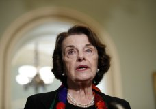 Senate Judiciary Committee Ranking Member Sen. Dianne Feinstein, D-Calif., speaks to the media about the FBI report on sexual misconduct allegations against Supreme Court nominee Brett Kavanaugh, on Capitol Hill, Thursday, Oct. 4, 2018 in Washington. (AP Photo/Alex Brandon)