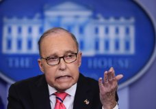 National Economic Council Director Larry Kudlow speaks to reporters during the daily press briefing in the Brady press briefing room at the White House in Washington, Tuesday, Nov. 27, 2018. (AP Photo/Manuel Balce Ceneta)
