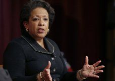 FILE - In this April 7, 2017, file photo. former U.S. Attorney General Loretta Lynch speaks during a conference on policy and blacks at Harvard University's Kennedy School of Government in Cambridge, Mass. House Republicans who have spent the last two years arguing that there was bias in President Barack Obama's Justice Department are preparing to subpoena two key witnesses in the final weeks of their majority _ former FBI Director James Comey and Lynch. (AP Photo/Elise Amendola, File)
