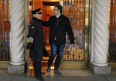 Michael Cohen, former lawyer to President Donald Trump, leaves his apartment building on New York's Park Avenue, Friday, Dec. 7, 2018. In the latest filings Friday, prosecutors will weigh in on whether Cohen deserves prison time and, if so, how much. (AP Photo/Richard Drew)