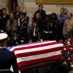 George HW Bush's Casket Leaves Capitol For Funeral Ceremony