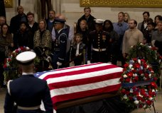 George HW Bush's Casket Leaves Capitol For Funeral Ceremony