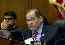 House Judiciary Committee Chairman Rep. Jerrold Nadler D-NY, speaks during a House Judiciary Committee debate to subpoena Acting Attorney General Matthew Whitaker, on Capitol Hill in Washington, Thursday, Feb. 7, 2019. (AP Photo/Jose Luis Magana)