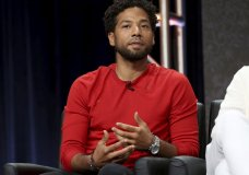 """FILE - In this Aug. 8, 2017 file photo, Jussie Smollett participates in the """"Empire"""" panel during the FOX Television Critics Association Summer Press Tour at the Beverly Hilton in Beverly Hills, Calif. Chicago's top prosecutor has recused herself from the investigation into the attack reported by Smollett. Cook County State's Attorney Kim Foxx offered few specifics when announcing she was stepping back Tuesday, Feb. 19, 2019. (Photo by Willy Sanjuan/Invision/AP, File)"""