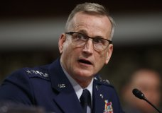 FILE - In this April 17, 2018 file photo, Air Force Gen. Terrence O'Shaughnessy testifies during a Senate Armed Services Committee hearing on Capitol Hill in Washington. (AP Photo/Carolyn Kaster)