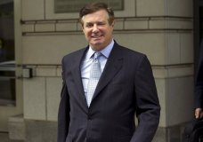 FILE - In this May 23, 2018, file photo, Paul Manafort, President Donald Trump's former campaign chairman, leaves the Federal District Court after a hearing in Washington. Manafort faces his second sentencing hearing in his many weeks, with a judge expected to tack on additional prison time beyond the roughly four-year punishment he has already received. (AP Photo/Jose Luis Magana, File)