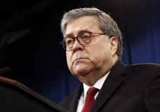 Attorney General William Barr speaks about the release of a redacted version of special counsel Robert Mueller's report during a news conference, Thursday, April 18, 2019, at the Department of Justice in Washington. (AP Photo/Patrick Semansky)