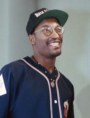 "FILE - This July 13, 1991 file photo shows filmmaker John Singleton, who made the movie ""Boyz N The Hood,"" in Los Angeles. The family for Singleton says the filmmaker will be taken off life support Monday, April 29, 2019, after suffering a stroke almost two weeks ago. In a statement Monday, Singleton's family said it was ""an agonizing decision, one that our family made over a number of days with the careful counsel of John's doctors."" (AP Photo/Bob Galbraith, File)"
