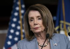 """FILE - In this May 9, 2019, Speaker of the House Nancy Pelosi, D-Calif., meets with reporters the day after the House Judiciary Committee voted to hold Attorney General William Barr in contempt of Congress, on Capitol Hill in Washington. Special counsel Robert Mueller said Wednesday, May 29, 2019, he believed he was constitutionally barred from charging President Donald Trump with a crime but pointedly emphasized that his Russia report did not exonerate the president. Nadler, in a statement, said it falls to Congress to respond to the """"crimes, lies and other wrongdoing of President Trump – and we will do so."""" (AP Photo/J. Scott Applewhite, file)"""