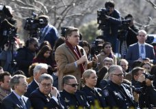 FILE - In this Feb. 15, 2019 file photo, Jim Acosta of CNN asks President Donald Trump a question during an event in the Rose Garden at the White House in Washington. CNN's Jim Acosta is the White House reporter that President Trump's supporters love to hate. In a new book, he takes aim at the people who criticize the press as 'enemy of the people' and his own detractors who say he's a grandstander. (AP Photo/Susan Walsh, File)
