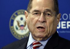 U.S. Rep. Jerrold Nadler, D-NY, Chairman of the House Judiciary Committee, speaks during a news conference, in New York, Wednesday, May 29, 2019. (AP Photo/Richard Drew)