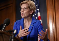Sen. Elizabeth Warren, D-Mass., speaks about a bill to cancel student loan debt, Tuesday, July 23, 2019, on Capitol Hill in Washington. (AP Photo/Jacquelyn Martin)