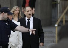 Harvey Weinstein leaves court, Monday, Aug. 26, 2019 in New York. Weinstein's lawyers want the trial moved from New York City to Long Island or upstate New York - part of the last-minute wrangling that includes efforts by prosecutors to bolster their case with testimony from actress Annabella Sciorra, who says Weinstein raped her in the 1990s. Weinstein has denied all accusations of non-consensual sex. (AP Photo/Mark Lennihan)