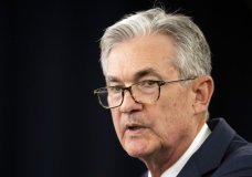 FILE - In this July 31, 2019, file photo Federal Reserve Chairman Jerome Powell speaks during a news conference following a two-day Federal Open Market Committee meeting in Washington. On Wednesday, Aug. 21, the Federal Reserve releases minutes from its July meeting when it cut its key interest rate for the first time in a decade. (AP Photo/Manuel Balce Ceneta, File)