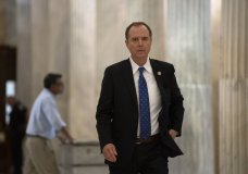 House Intelligence Committee Chairman Adam Schiff, D-Calif., arrives at the Capitol to meet with House Majority Leader Steny Hoyer, D-Md., on the morning after Speaker of the House Nancy Pelosi, D-Calif., declared she will launch a formal impeachment inquiry against President Donald Trump, at the Capitol in Washington, Wednesday, Sept. 25, 2019. (AP Photo/J. Scott Applewhite)