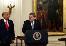 © Anna Moneymaker/The New York TimesAttorney General William Barr with President Trump.