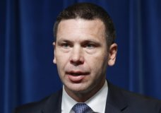 FILE - In this Sept. 20, 2019, file photo, Acting Secretary of Homeland Security Kevin McAleenan speaks during a news conference at the U.S. Customs and Border Protection headquarters in Washington. President Donald Trump announced Oct. 11, 2019. that McAleenan is stepping down. (AP Photo/Pablo Martinez Monsivais, File)