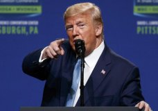 President Donald Trump speaks at the 9th annual Shale Insight Conference at the David L. Lawrence Convention Center, Wednesday, Oct. 23, 2019, in Pittsburgh. (AP Photo/Evan Vucci)