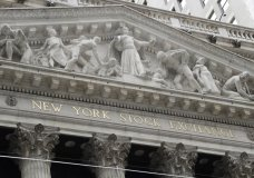 FILE - This Aug. 23, 2019, file photo shows the New York Stock Exchange in New York. The U.S. stock market opens at 9:30 a.m. EDT on Wednesday, Oct. 2. (AP Photo/Frank Franklin II, File)