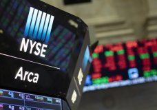 FILE - In this Sept. 18, 2019, photo stock prices are displayed at the New York Stock Exchange. The U.S. stock market opens at 9:30 a.m. EDT on Thursday, Oct. 24. (AP Photo/Mark Lennihan, File)