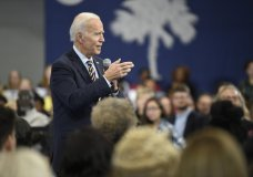 Former Vice President and Democratic presidential candidate Joe Biden speaks at a town hall held at Lander University on Thursday, Nov. 21, 2019, in Greenwood, S.C. (AP Photo/Meg Kinnard)