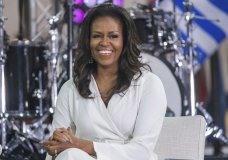 "FILE - In this Oct. 11, 2018, file photo, Michelle Obama participates in the International Day of the Girl on NBC's ""Today"" show in New York. The former first lady announced that Selena Gomez, Liza Koshy, Shonda Rhimes, Megan Rapinoe, Tracee Ellis Ross and Kerry Washington have signed on as co-chairs of the national organization When We All Vote. The announcement Thursday, Nov. 7, 2019 marks a year until the date of the 2020 elections, which includes the presidential race. (Photo by Charles Sykes/Invision/AP, File)"